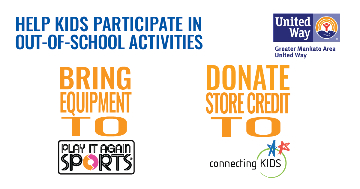 Bring Equipment To Play It Again Sports Donate Credit Connecting Kids